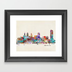 buffalo city new york Framed Art Print