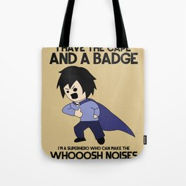 Cape and Badge Tote Bag