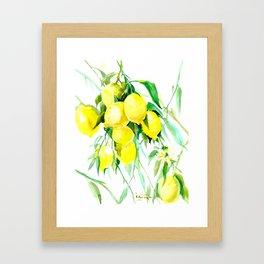 Lemon Tree kitchen decor art towel lemon Framed Art Print