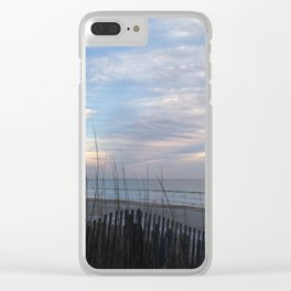 Chilling clouds Clear iPhone Case