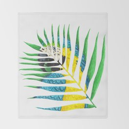 Parrot Palm Leaf Throw Blanket