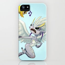 grumpy harpie makes a friend iPhone Case