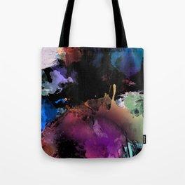 Dark Abstract Watercolor Tote Bag