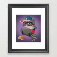 Rad Raccoon Framed Art Print
