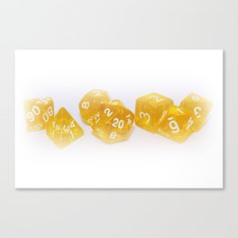 Golden Gaming Dice Canvas Print