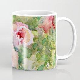Cascading Flowers -Landscape- Watercolors Coffee Mug