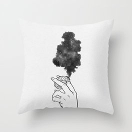 Burning mind. Throw Pillow