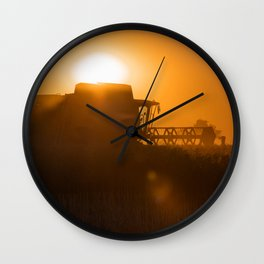 Midsummer time is harvest time of the cereal fields Wall Clock