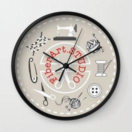 Fiber Art Studio Swag Wall Clock