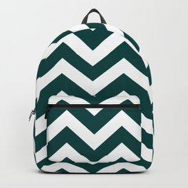 Rich black - green color - Zigzag Chevron Pattern Backpack