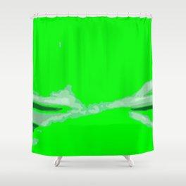 Green Twist Shower Curtain