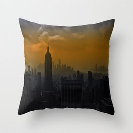 New York red Throw Pillow