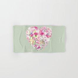 Blush Heart Hand & Bath Towel