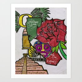 Anaheim Born SantaAna Raised Art Print