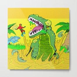 Gator Bait Metal Print