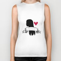 lydia martin Biker Tanks featuring Lydia Martin by smartypants