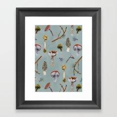 Mushroom Forest Party Framed Art Print