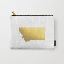 Montana State Printable Art Montana Art Printable Montana Map Printable Faux Gold Foil Printable Wal Carry-All Pouch