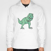 t rex Hoodies featuring T-rex by Cat Milchard