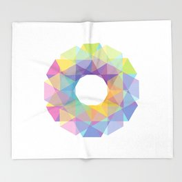 Fig. 036 Colorful Circle Throw Blanket