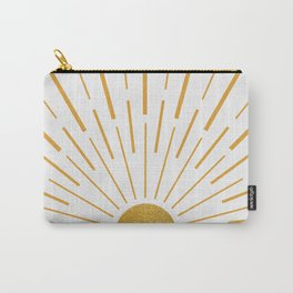 Golden Sunshine Rays Carry-All Pouch
