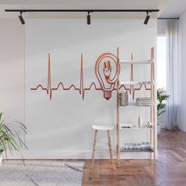 Electrician Heartbeat Wall Mural