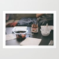 nutella Art Prints featuring NUTELLA by Lauren Siegrist