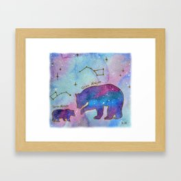 Big Dipper and Small Dipper Framed Art Print