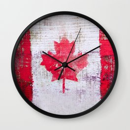 Canadian Flag Painting Tote Bag Abstract Maple Leaf Canada Wall Clock