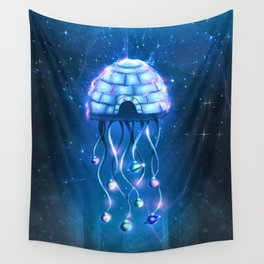 Christmas Jellyfish Wall Tapestry