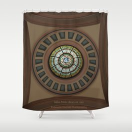 Hometown Library Shower Curtain