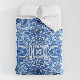 65 - Psychedelic Blues Comforters