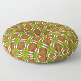 New year 2016 pattern in green Floor Pillow
