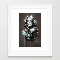 marilyn Framed Art Prints featuring Marilyn. by Emiliano Morciano (Ateyo)