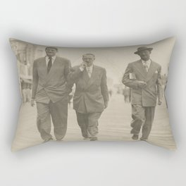 Vintage Suits on the Boardwalk Rectangular Pillow
