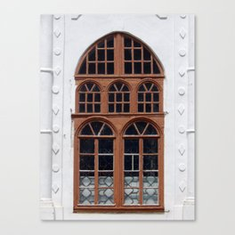 Window architecture Ukrainian Baroque the fragment of the building Canvas Print