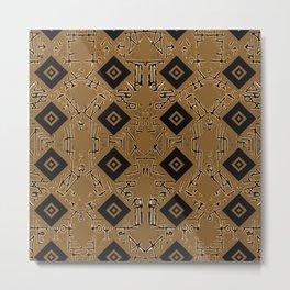 Eclectic Brown Metal Print