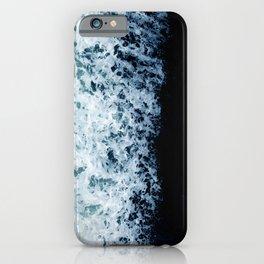 Emerald-Opal-Color Ocean Waves Enveloping Black Sand Beach iPhone Case