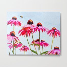 Bee Lively Metal Print