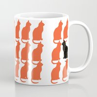 michael clifford Mugs featuring CATTERN SERIES 2 by Catspaws