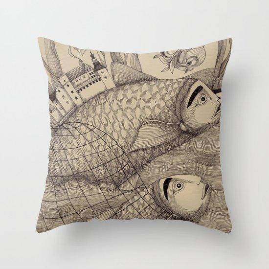 The Golden Fish (1) Throw Pillow