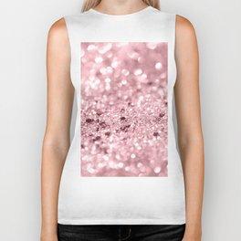 Rose Gold Blush Girls Glitter #1 #shiny #decor #art #society6 Biker Tank