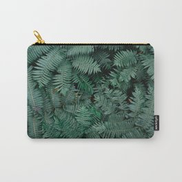 Green tropical Fern leaves   Botanical fine art photography print   Forest style Carry-All Pouch