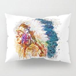 Native American Chief Pillow Sham