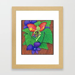 Fairy and Bee Framed Art Print