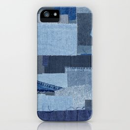 Boroboro Blue Jean Japanese Boro Inspired Patchwork Shibori iPhone Case