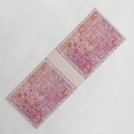 Pink Vintage Antique Oriental Traditional Moroccan Original Artwork Yoga Mat