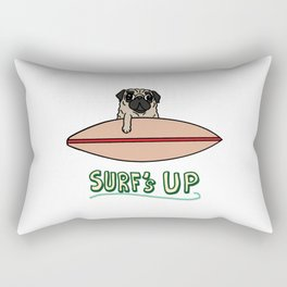 Surf's Up Pug Rectangular Pillow