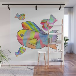 Rainbow fish by Elisavet | colorful #society6 Wall Mural