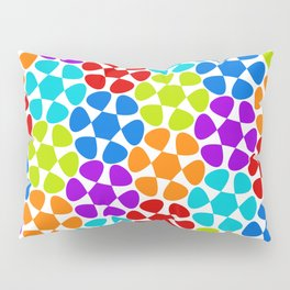 Multi-Coloured Flower Pattern Pillow Sham